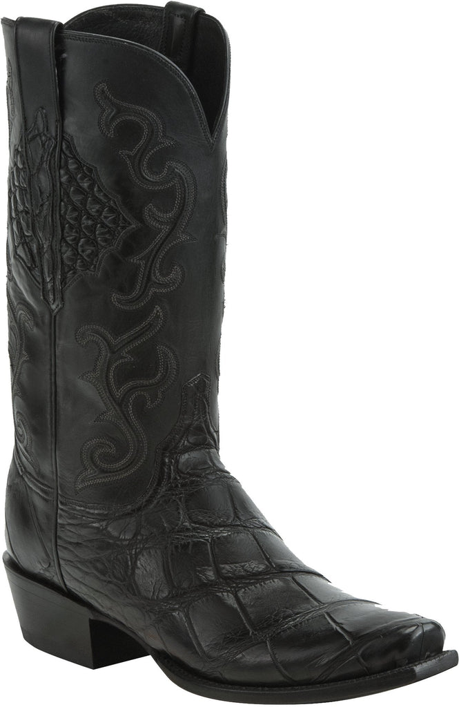 Lucchese ACE HL1032.73 Mens Antique Black Giant American Alligator Boots