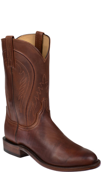 Lucchese NAVARRO H3504 Mens Tan Burnished Ranch Hand Calfskin Boots