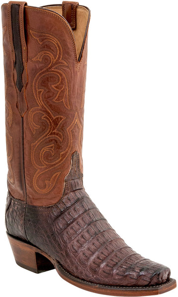 Lucchese  HL4009.73 Womens Barrel Brown Hornback Caiman Crocodile Boots