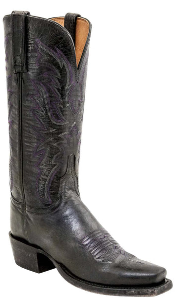 Lucchese MABEL HL4515.74 Womens Stonewashed Anthracite Grey Mad Dog Goat Boots