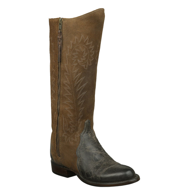 Lucchese  HL7018.R7 Womens Anthracite Grey Mad Dog Goat Boots