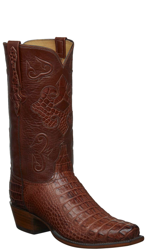 Lucchese KD1000.73 Mens Brown American Alligator Boots
