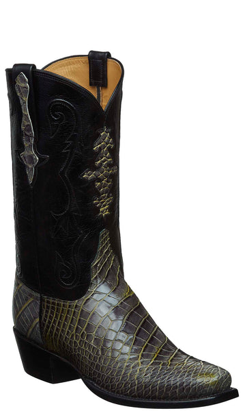 Lucchese KD1001.73 Mens Lime Green American Alligator Boots