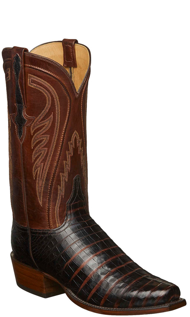 Lucchese KD1010.73 Mens Sienna Brown Caiman Crocodile Belly Boots