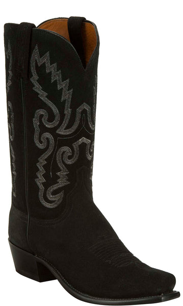Lucchese KD1507.73 Mens Black Suede Boots