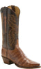 Lucchese KD4009.54 Womens Tan Caiman Crocodile Belly Boots