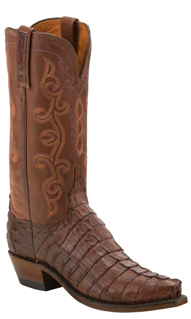 Lucchese KD4013.54 Womens Brown Hornback Crocodile Tail Cut Boots