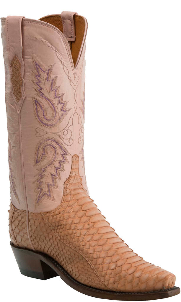 Lucchese KD4022.54 Womens Pink Python Boots
