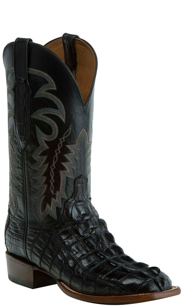 Lucchese KD6003.WF Mens Black Nile Crocodile Tail Cut Boots