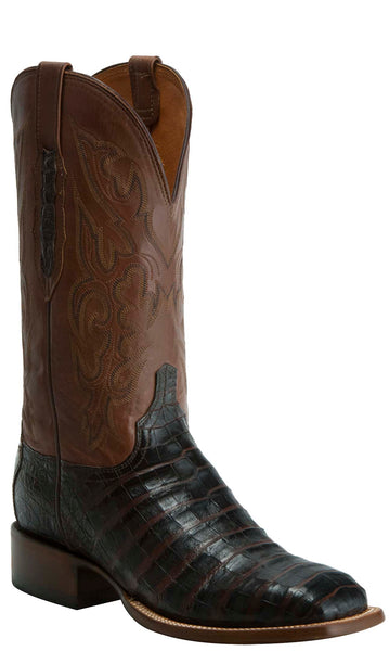 Lucchese KD6010.WF Mens Brown Caiman Crocodile Belly Boots