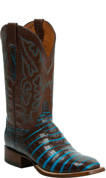 Lucchese KD6011.WF Mens Brown Caiman Crocodile Belly Boots
