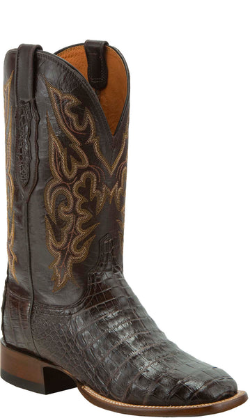 Lucchese KD6019.WF Mens Brown Caiman Crocodile Belly Boots