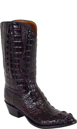 Lucchese L1000 Black Cherry Hornback Alligator Mens Classics Boots