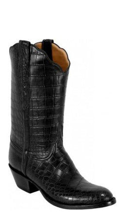 Lucchese Classics L1121.64 Mens American Alligator Belly Bias Cut Boots