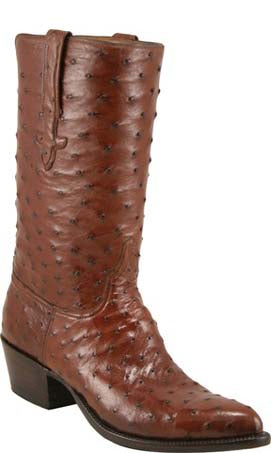 Lucchese Classics L1162 Sienna Full Quill Ostrich Mens Boots