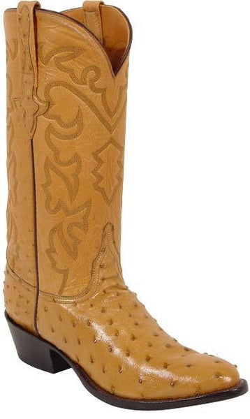 Lucchese Classics L1165.64 Mens Full Quill Ostrich Boots