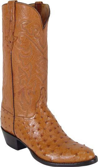 Lucchese Classics L1167.64 Mens Full Quill Ostrich Boots