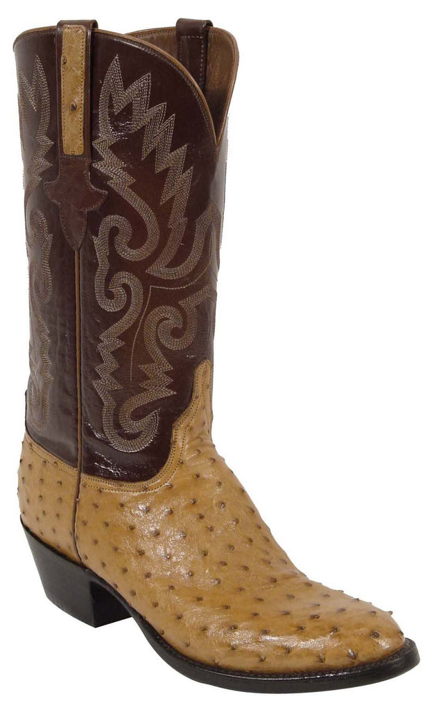f9af64dd890 Lucchese Classics L1179 Mens Saddle Tan Full Quill Ostrich Boot