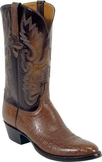 Lucchese Classics L1202.68 Mens Sienna Smooth Ostrich Boots Size 12.5 EEE STALL STOCK