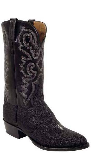 Lucchese Classics L1205 Mens Black Stingray and Calfskin Boots