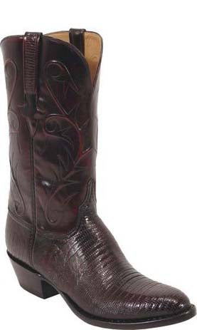 Lucchese Classics L1215 Black Cherry Lizard Mens Boots