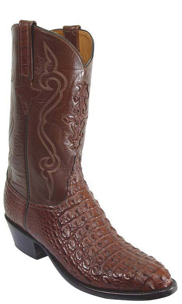 Lucchese Classics L1251 Mens Cigar Brown Nile Hornback Crocodile Cowboy Boots