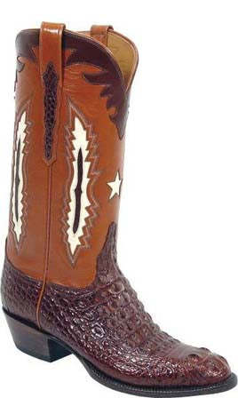 Lucchese Classics L1260 Mens Cigar Brown Hornback Nile Crocodile Cowboy Boots