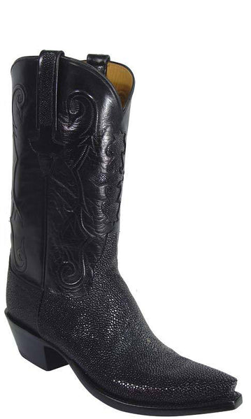 Lucchese L1313 Mens Black Shaved Stingray Cowboy Classics Boots
