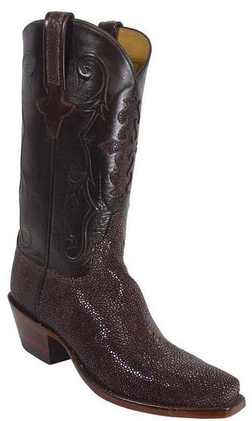 Lucchese Classics L1314 Mens Chocolate Brown Shaved Stingray Boots