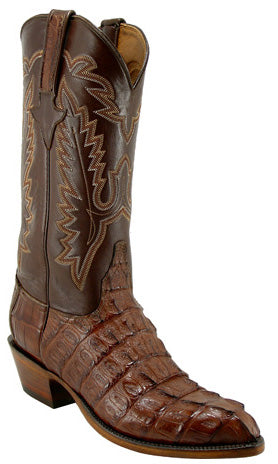 Lucchese Classics L1324 Mens Cigar Hornback Caiman Crocodile Tail Boot