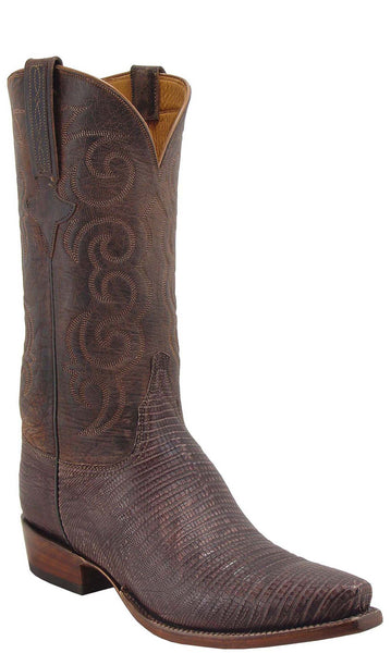 Lucchese L1335 Mens Sport Rust Sanded Lizard Cowboy Classics Boots