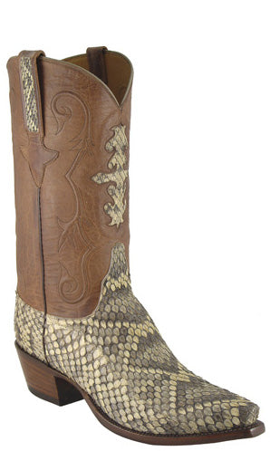 Lucchese Classics L1337 Mens Natural Eastern Rattlesnake Boots