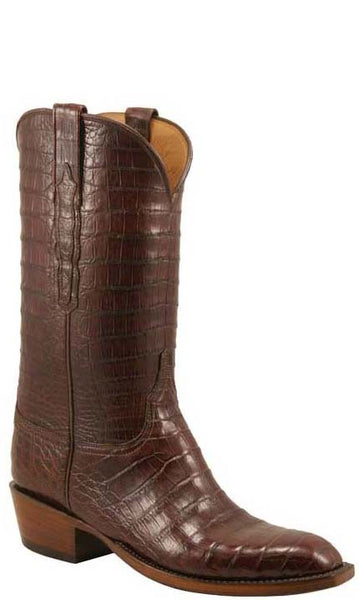 Lucchese Classics L1350 Mens Sienna Brown Ultra Crocodile Belly Boots