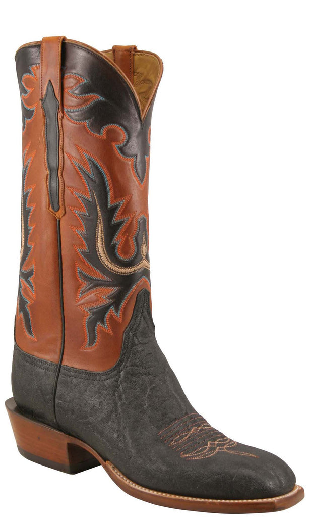 Lucchese L1353 Mens Black Elephant Ranch  Boots