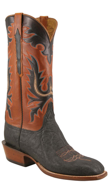 Lucchese Classics L1353 Mens Black Elephant Ranch  Boot