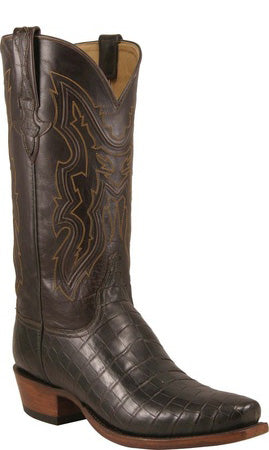 Lucchese L1370 Mens Chocolate Nile Crocodile Cowboy Classics Boots