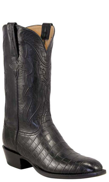 Lucchese Classics L1371 Mens Black Nile Belly Crocodile Boots