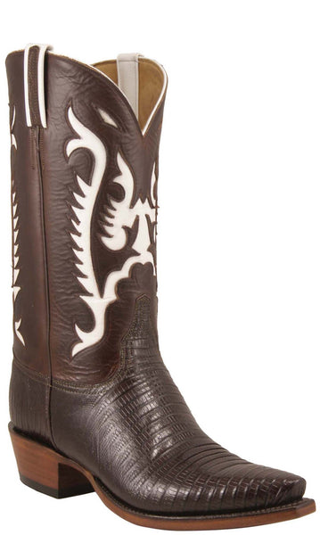 Custom Black Buffalo Boots with Dale Evans Inlay Size 8.5 D