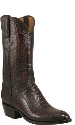 Lucchese L1380 Mens Cigar Brown All-over Ostrich Leg Cowboy Classics Boots
