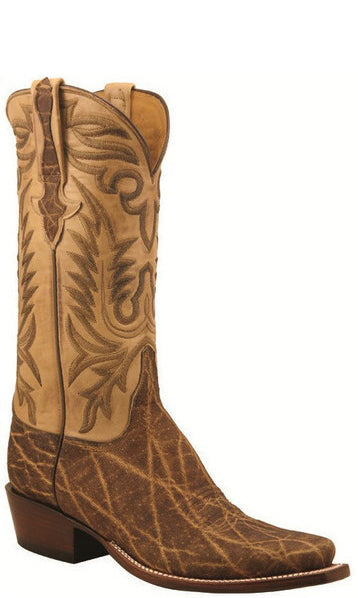 Lucchese L1389 Mens Peat Brown Elephant Cowboy Classics Boots