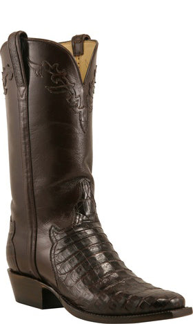 Lucchese Classics L1393 Chocolate Belly Caiman Crocodile Mens Boots