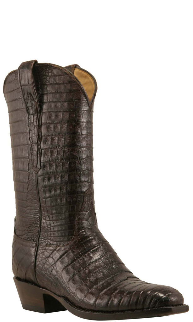 Lucchese L1403 Mens Chocolate All-over Caiman Crocodile Cowboy Classics Boots