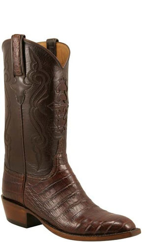 Lucchese Classics L1409 Mens Sienna Ultra Belly Caiman Crocodile Cowboy Boots
