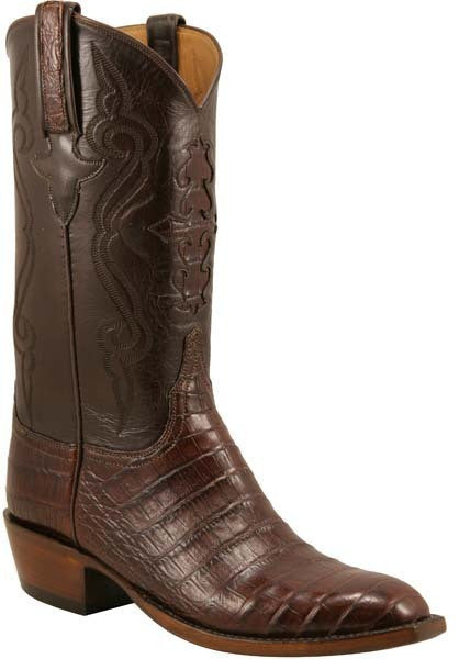 Lucchese Classics L1409.63 Mens Sienna Ultra Belly Caiman Crocodile Cowboy Boots
