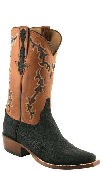 Lucchese L1422 Mens Black Hippo Cowboy Classics Boots