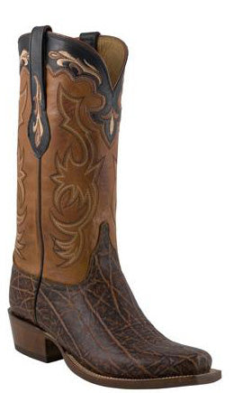 Lucchese L1427 Mens Bark Brown Elephant Cowboy Classics Boots