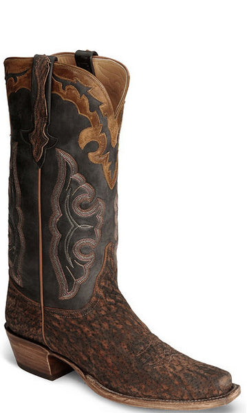 Lucchese Classics L1429 Mens Safari Brown Elephant Cowboy Boots