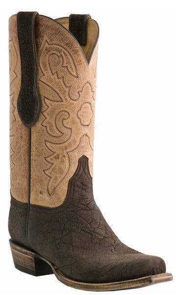 Lucchese Classics L1444 Mens Chocolate Suede Elephant Mad Dog Goat