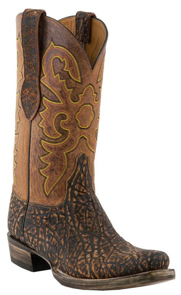 Lucchese Classics L1445.73 Mens Cognac Safari Brown Elephant Boots