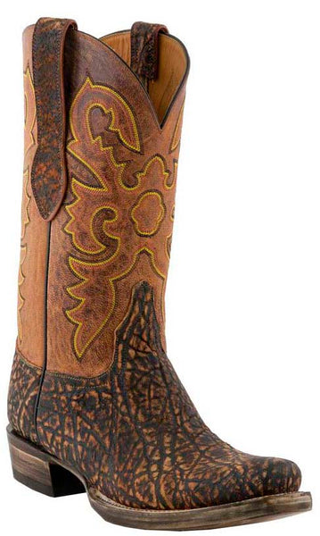 Lucchese Classics L1445 Mens Safari Brown Elephant Boots